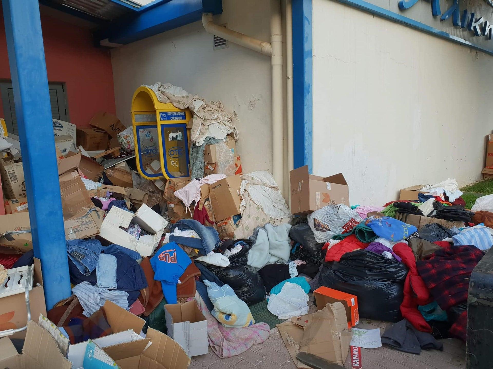Έκαναν σκουπίδια την ανθρωπιστική βοήθεια για το Μάτι