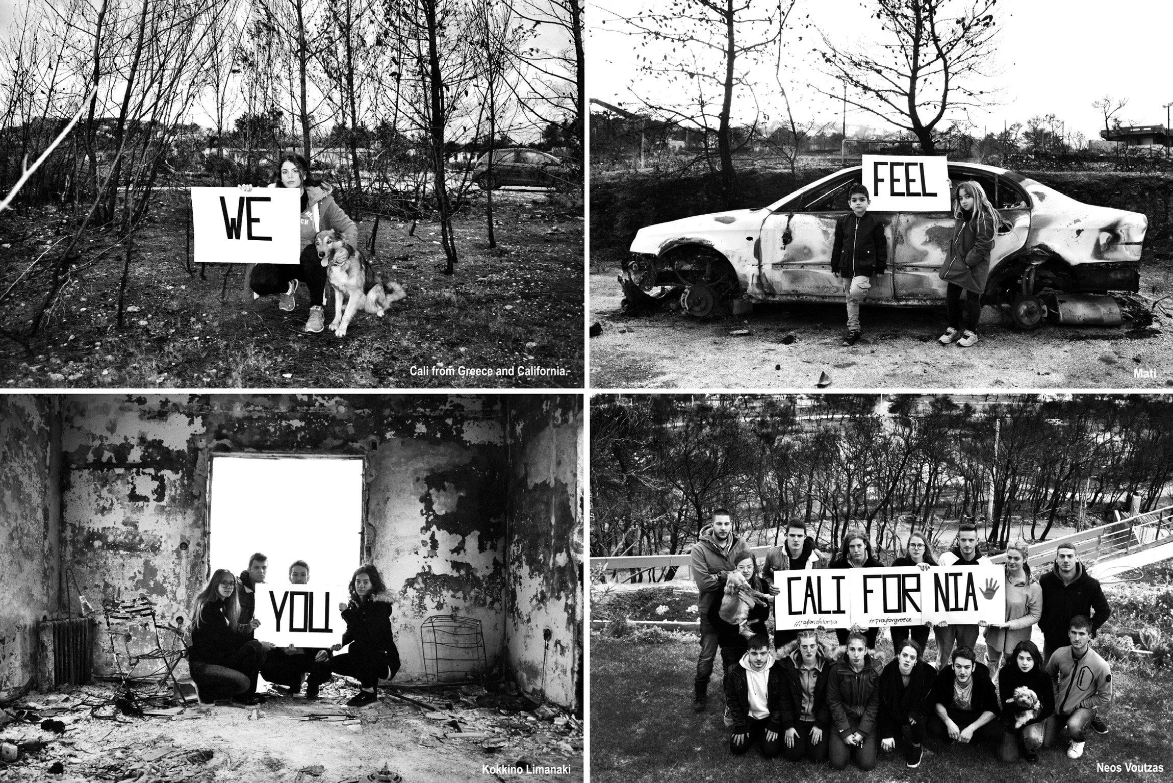 Οι νέοι από το Μάτι: «Σε νιώθουμε Καλιφόρνια»