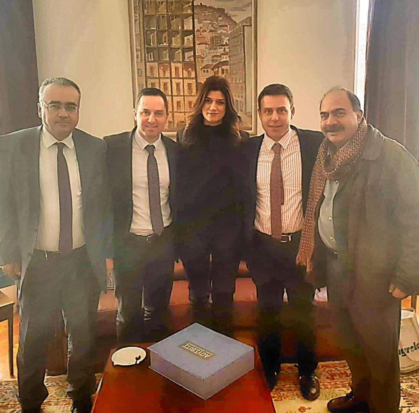 Συνάντηση του προέδρου της Ολομέλειας των Δικηγορικών Συλλόγων με την Κατερίνα Νοτοπούλου