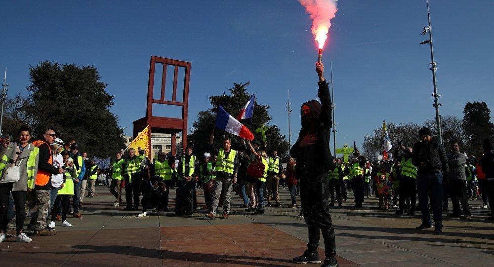Διαδήλωση «μήνυμα» των «κίτρινων γιλέκων» προς τον ΟΗΕ