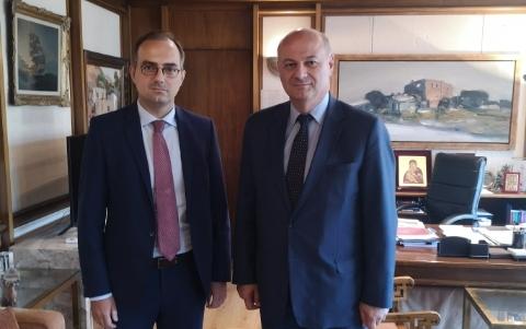 Συνάντηση Αναστασόπουλου με τον Υπουργό Δικαιοσύνης Κ. Τσιάρα