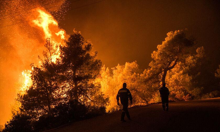 Ο χάρτης της πύρινης καταστροφής: Κάηκε έκταση πρασίνου ίση με τη Σαλαμίνα ή τη Σκόπελο