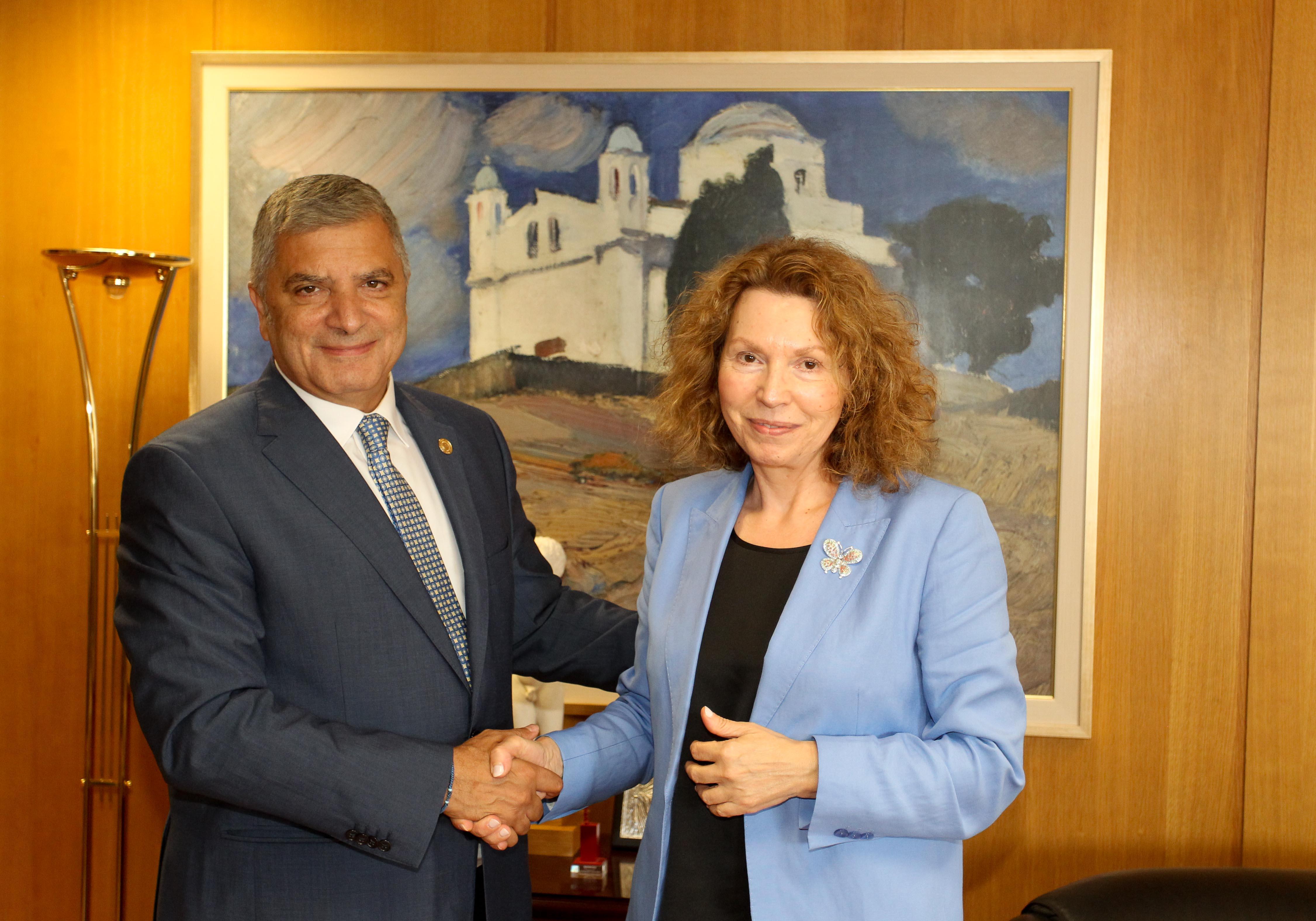 Συνάντηση Πατούλη με την Πρόεδρο του Ελεγκτικού Συνεδρίου Ανδρονίκη Θεοτοκάτου