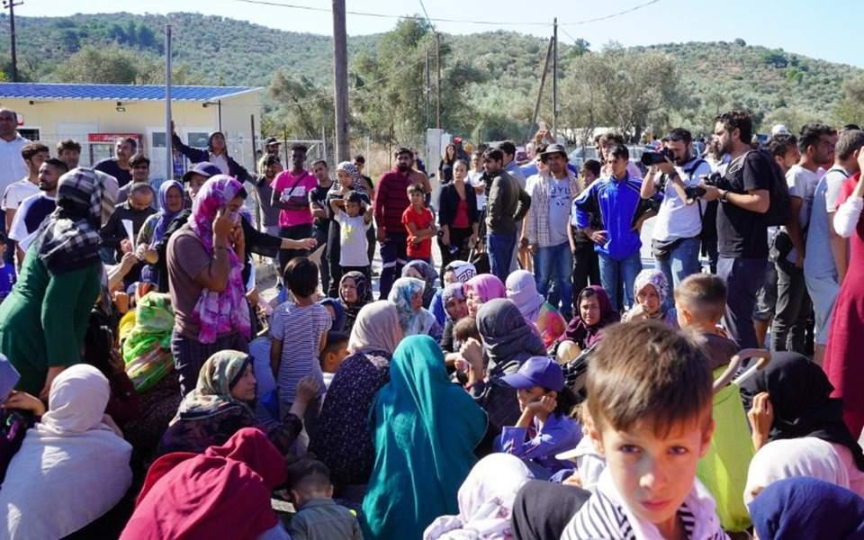 Μυτιλήνη: Πορεία διαμαρτυρίας αιτούντων άσυλο από τον καταυλισμό της Μόριας