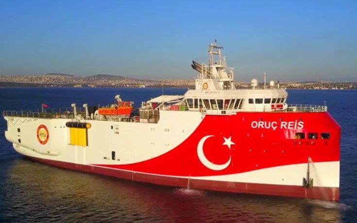 """Τουρκία: """"Το Ορούτς Ρέις άρχισε επιχειρήσεις στην ανατολική Μεσόγειο"""" – Πέτσας: """"Θα ζητήσουμε κυρώσεις στην Σύνοδο Κορυφής"""""""