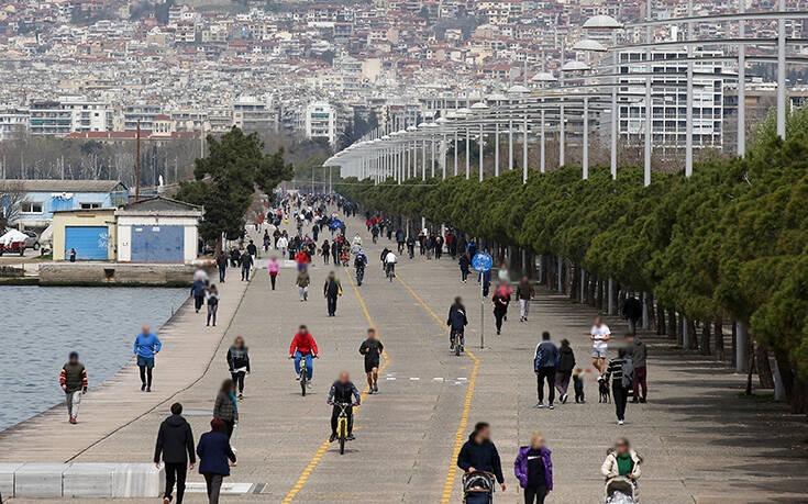 Περιορισμός κίνησης πολιτών στη Νέα Παραλία Θεσσαλονίκης