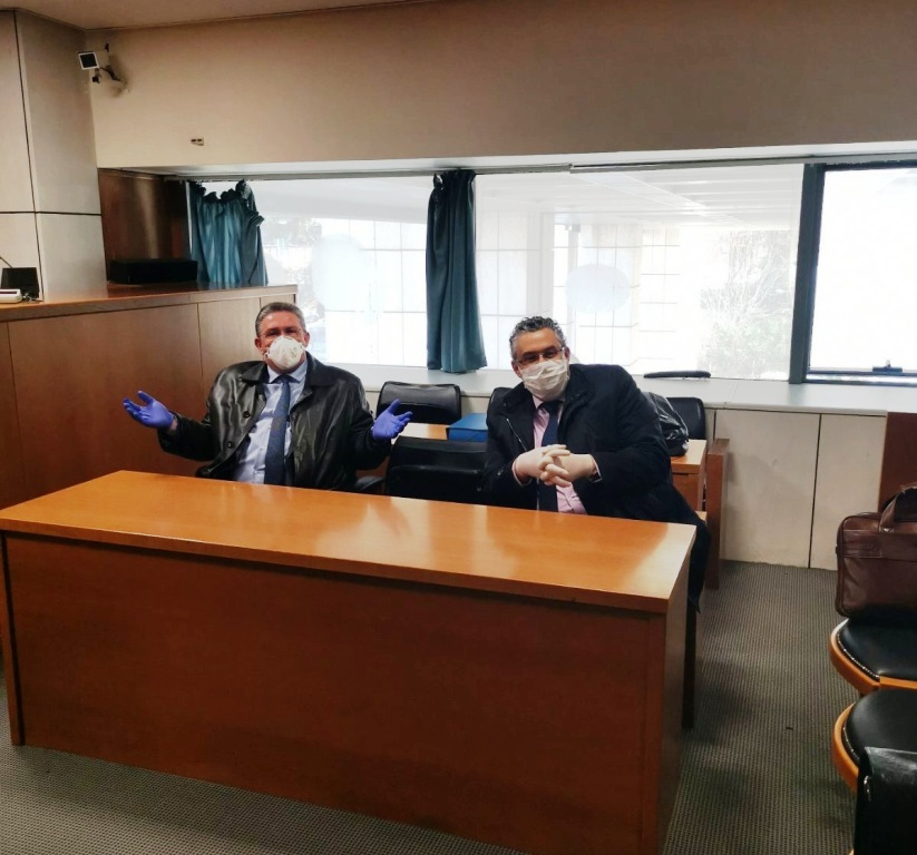 Εφετείο Αθηνών: Με γάντια, μάσκες και αντισηπτικά στα έδρανα των δικηγόρων