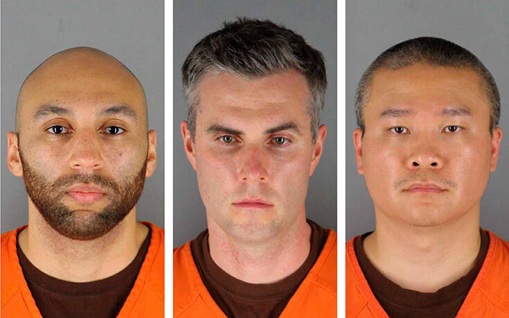 Τζορτζ Φλόιντ: Στο δικαστήριο εμφανίστηκαν οι τρεις αστυνομικοί που κατηγορούνται για συνέργεια στη δολοφονία του