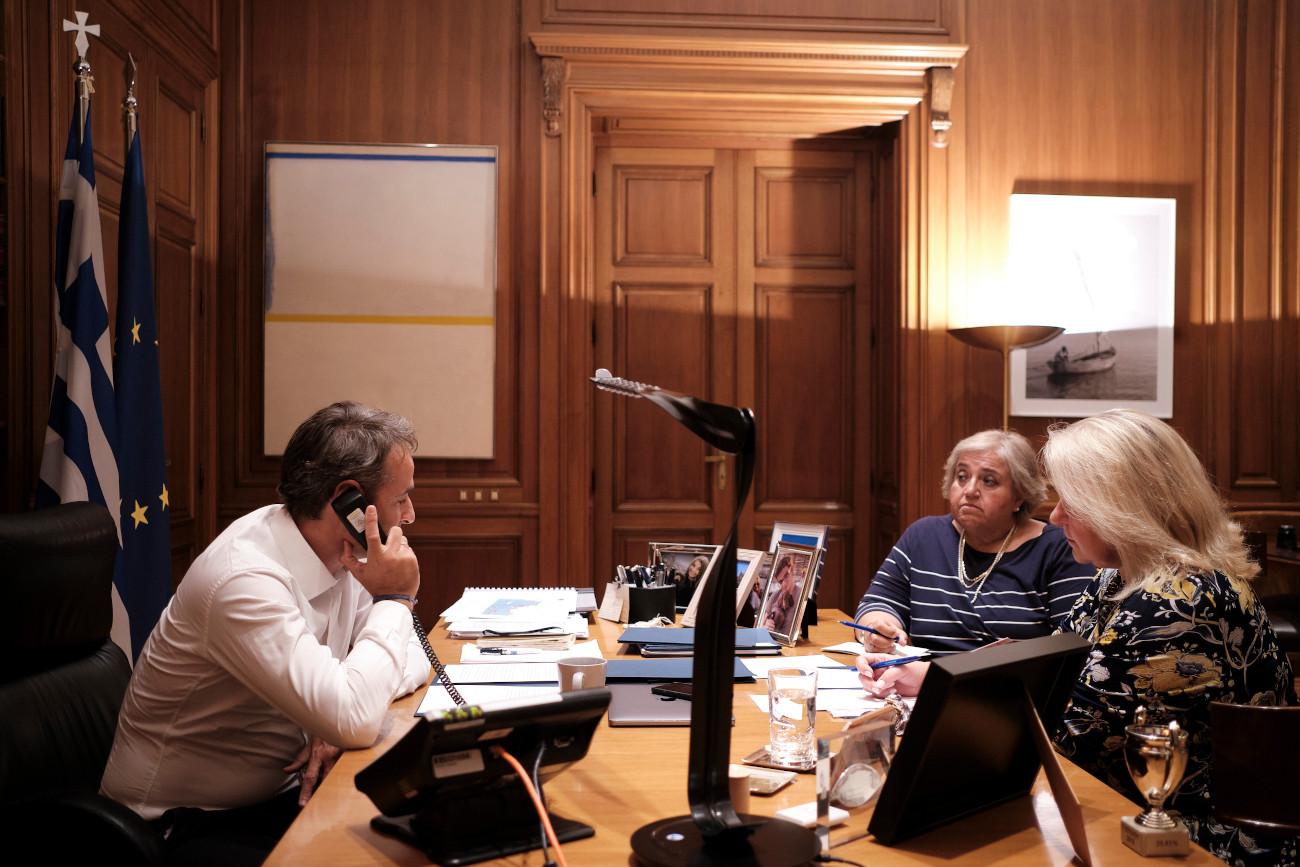 Τηλεφωνική επικοινωνία Μητσοτάκη-Τραμπ για τα ελληνοτουρκικά