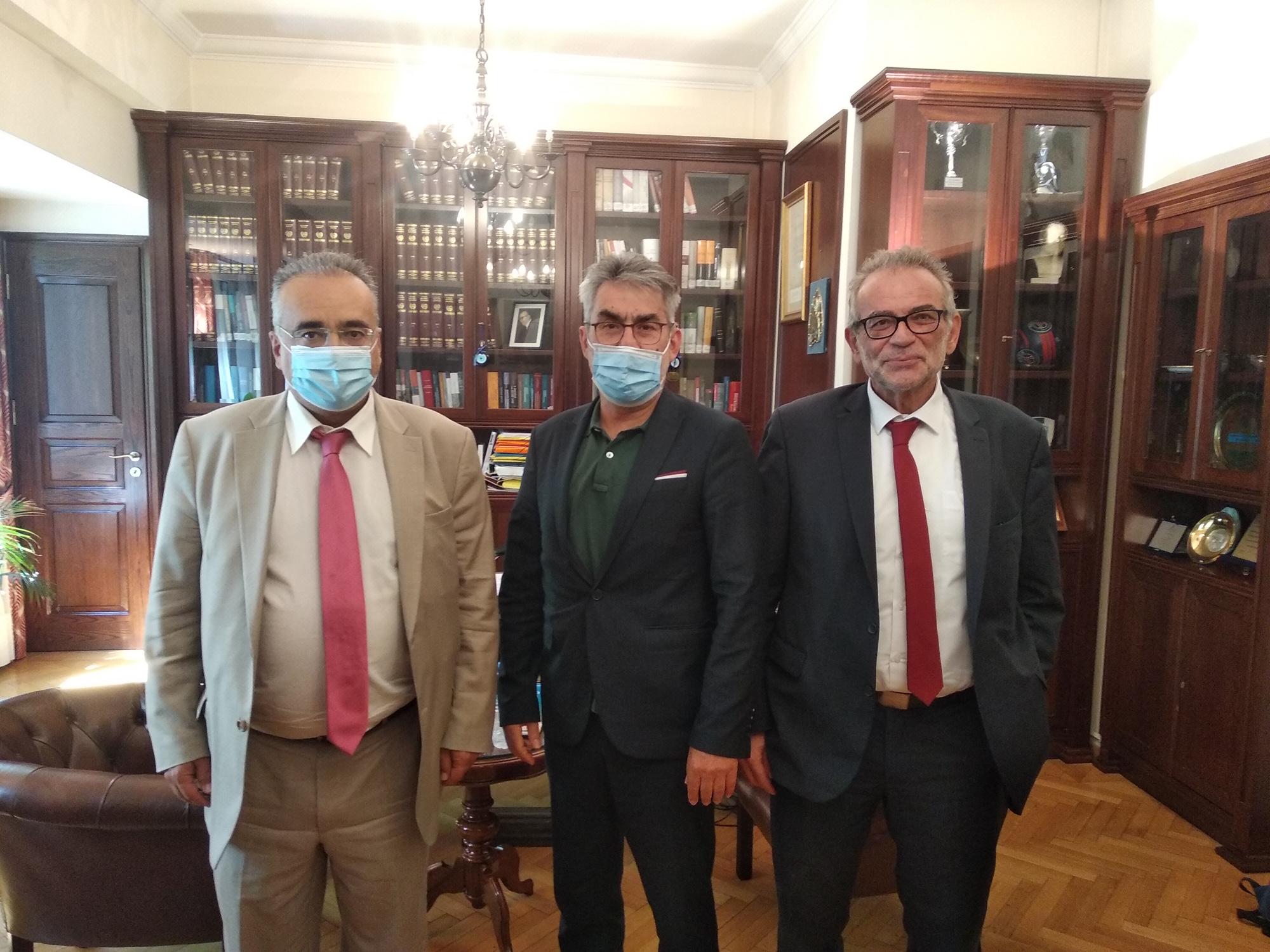 Συνάντηση του τομεάρχη Δικαιοσύνης της Κ.Ο του ΣΥΡΙΖΑ-Προοδευτική Συμμαχία Θ. Ξανθόπουλου με αντιπροσωπεία του προεδρείου της Ολομέλειας των Δικηγορικών Συλλόγων Ελλάδας