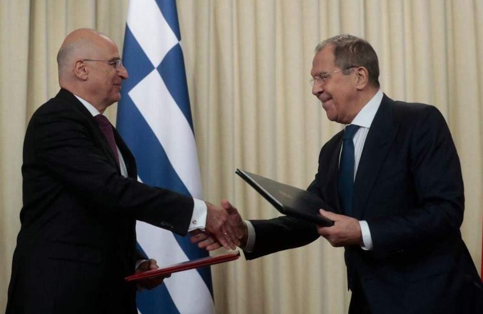 Δένδιας-Λαβρόφ: Δικαίωμα της Ελλάδος η επέκταση στα 12 ναυτικά μίλια – ΒΙΝΤΕΟ