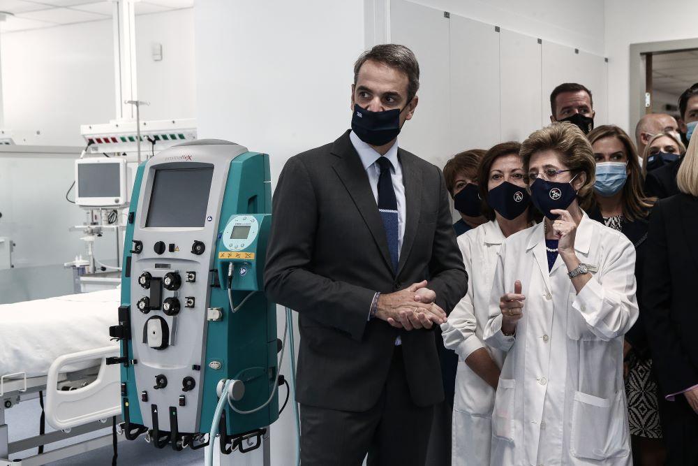 """Στα εγκαίνια των 50 κλινών ΜΕΘ στο """"Σωτηρία"""" ο Μητσοτάκης: «Οι επόμενοι μήνες θα είναι κρίσιμοι» – ΦΩΤΟ"""