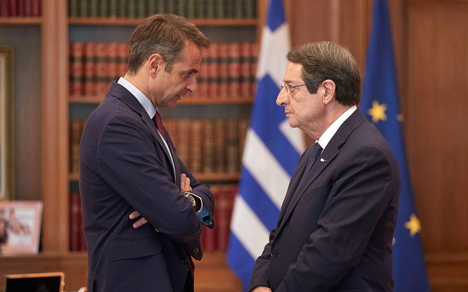 Μητσοτάκης-Αναστασιάδης: Η παραβατική συμπεριφορά της Τουρκίας δεν θίγει μόνο τα συμφέροντα Ελλάδας-Κύπρου αλλά και της ΕΕ – ΒΙΝΤΕΟ
