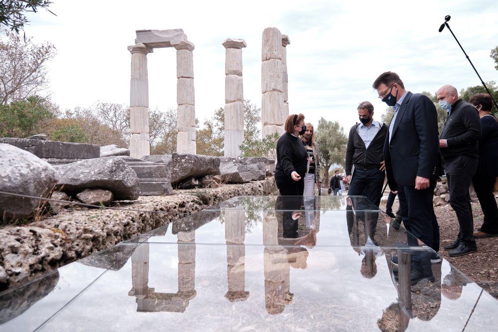Σαμοθράκη: Το Κάστρο της Χώρας επισκέφθηκε ο Κυριάκος Μητσοτάκης – ΦΩΤΟ
