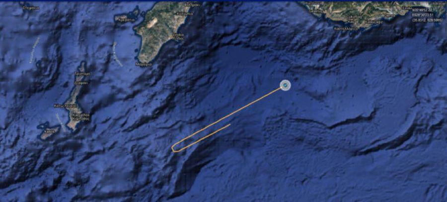 Συνεχίζονται οι τουρκικές προκλήσεις: Στα 9 ναυτικά μίλια από το Καστελόριζο το τουρκικό ερευνητικό Ορούτς Ρέις