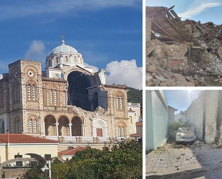 Το καταστροφικό πέρασμα του φονικού σεισμού στη Σάμο – Συγκλονιστικές εικόνες – ΒΙΝΤΕΟ – ΦΩΤΟ