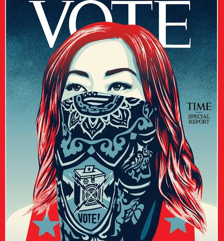 Το περιοδικό TIME για πρώτη φορά στα 100 του χρόνια άλλαξε το εμβληματικό του λογότυπο σε … «Vote»