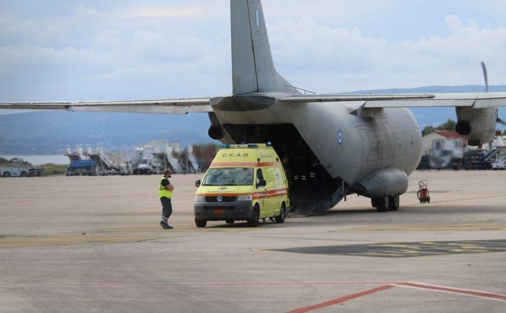 Η πρώτη αεροδιακομιδή με C130 ασθενών με κορονοϊό από τη Βόρεια Ελλάδα στην Αθήνα – BINTEO