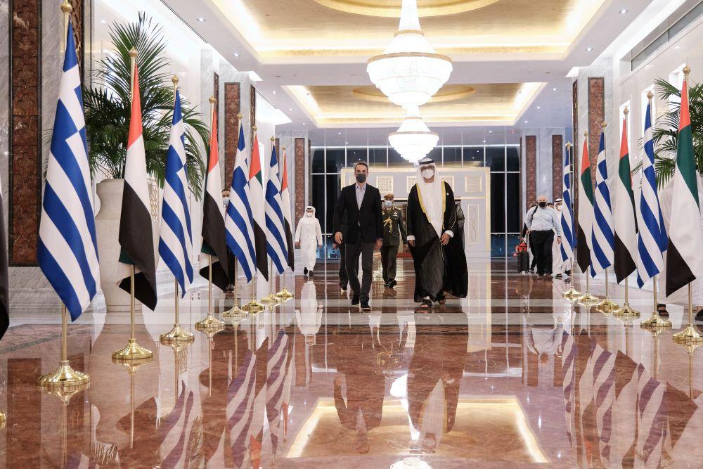 Μητσοτάκης: Ελλάδα – Ηνωμένα Αραβικά Εμιράτα διαμορφώνουν πλαίσιο στρατηγικής συμμαχίας στην οικονομία, την άμυνα και την εξωτερική πολιτική – ΒΙΝΤΕΟ – ΦΩΤΟ