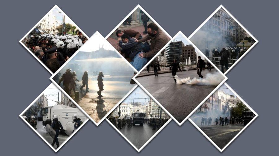 """Το """"ξύλο"""" της καραντίνας – Επεισόδια """"covid free"""" στο κέντρο της Αθήνας για την επέτειο του Πολυτεχνείου – Χημικά και αύρες εναντίον διαδηλωτών – ΒΙΝΤΕΟ – ΦΩΤΟ"""
