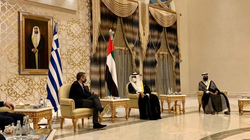 Στα Ηνωμένα Αραβικά Εμιράτα ο Κυριάκος Μητσοτάκης – Στόχος στρατηγική εταιρική σχέση