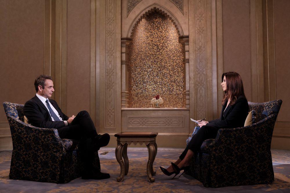 Μητσοτάκης στο Sky News Arabia: Η Τουρκία θα πρέπει να σταματήσει τις προκλήσεις στη θάλασσα και τότε εμείς θα κάτσουμε στο τραπέζι – ΒΙΝΤΕΟ – ΦΩΤΟ