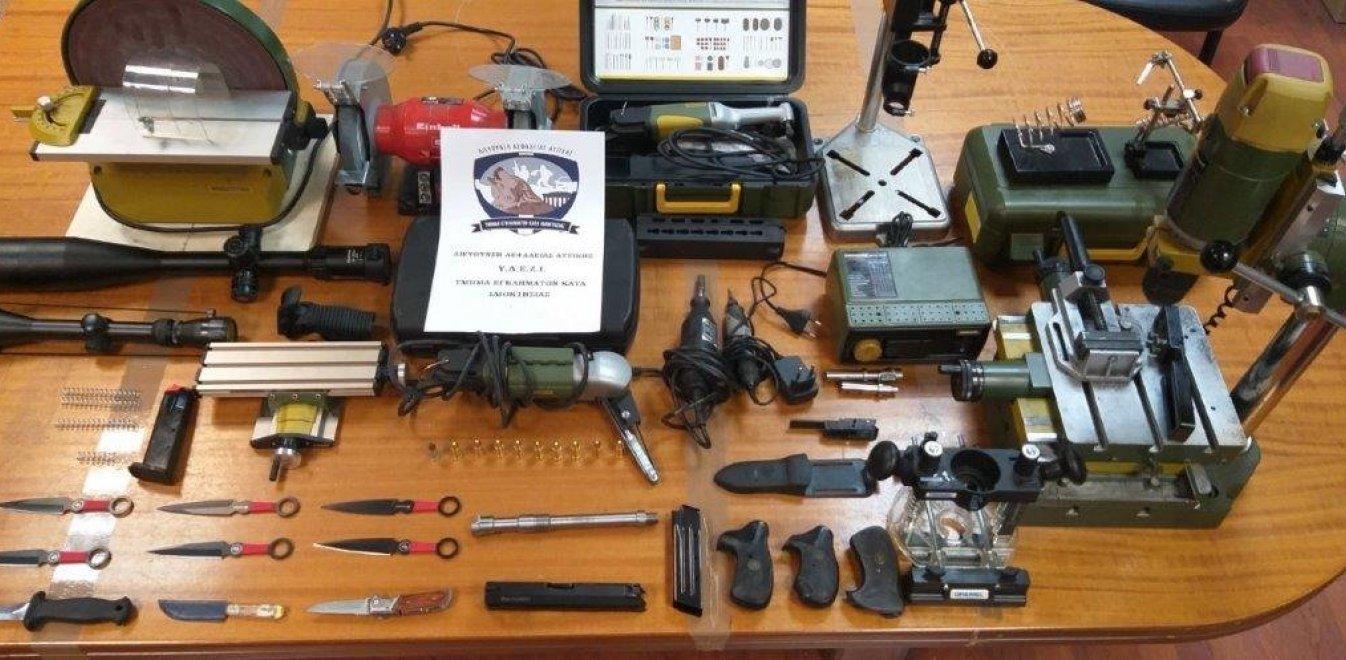 """Καλλιθέα : Σύλληψη """"εισαγωγέα"""" όπλων – Τα πουλούσε στη μαύρη αγορά"""