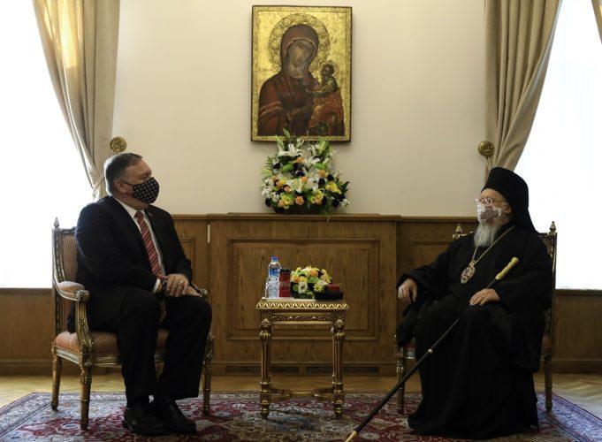 Στην Τουρκία ο Πομπέο – Συνάντηση με τον Οικουμενικό Πατριάρχη – Το τηλεφώνημα Μητσοτάκη-Βαρθολoμαίου – ΒΙΝΤΕΟ