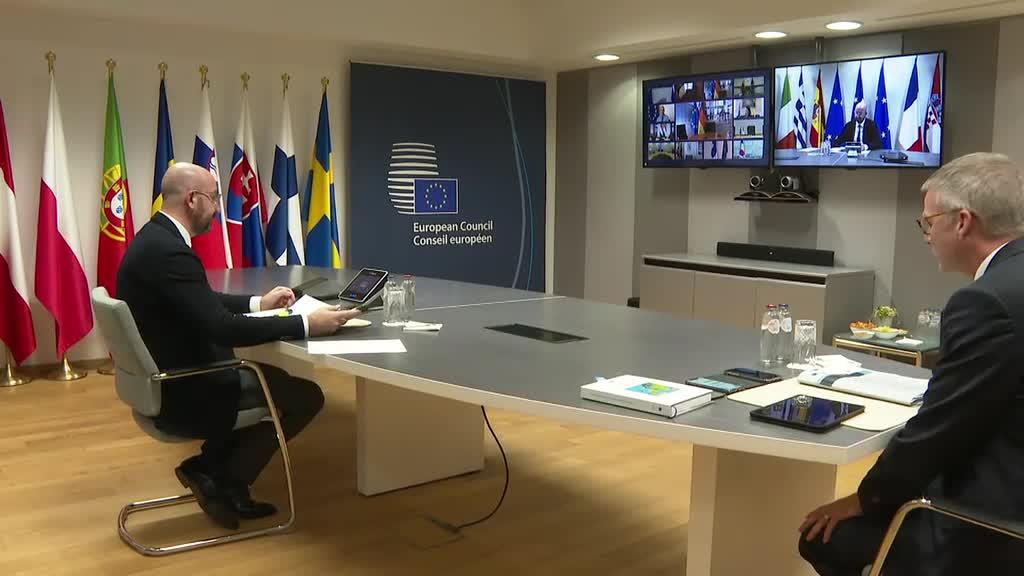Τηλεδιάσκεψη Κορυφής των Ευρωπαίων ηγετών για την πανδημία: Λύση για το ταμείο ανάκαμψης αναζητούν οι «27»
