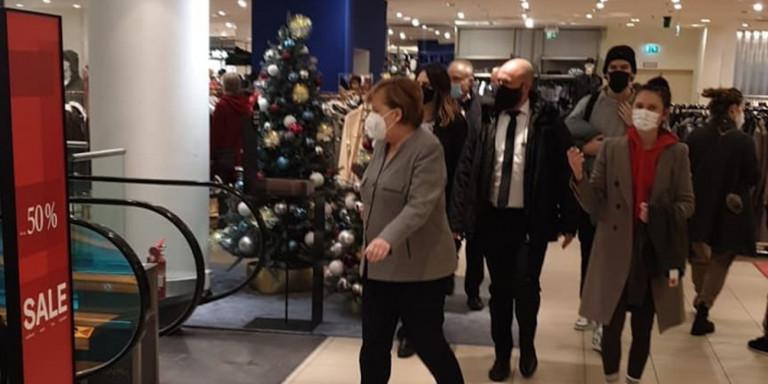 Και καγκελάριος να είσαι…θα πας για ψώνια πριν το lockdown