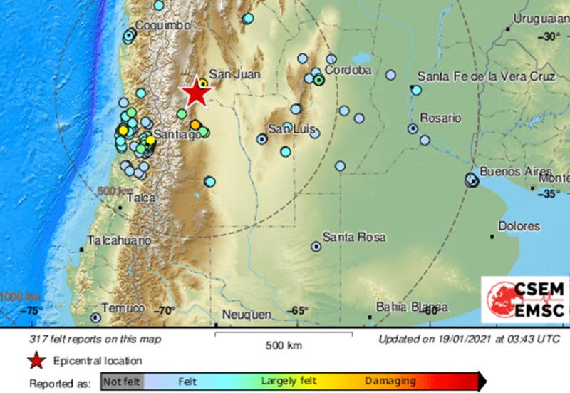 Ισχυρός σεισμός 6,6 Ρίχτερ στην Αργεντινή – ΒΙΝΤΕΟ
