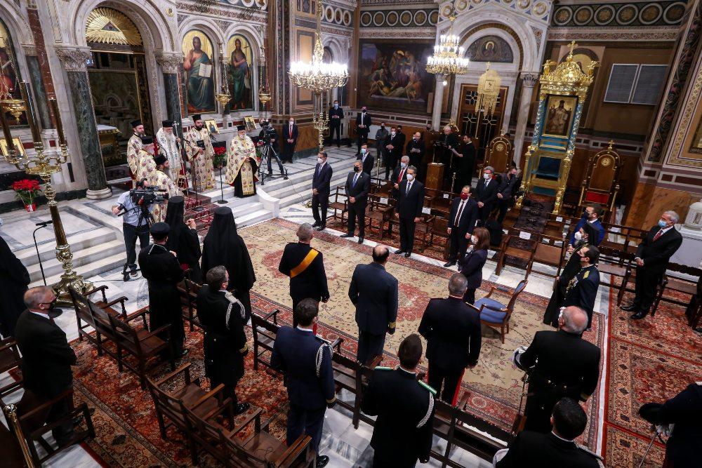 Στην πρωτοχρονιάτικη δοξολογία στην Μητρόπολη Αθηνών, η ΠτΔ και ο πρωθυπουργός