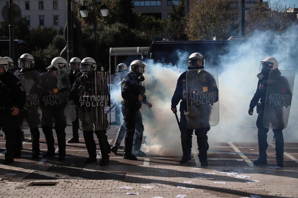 Η ανακοίνωση της ΕΛ.ΑΣ. για τα επεισόδια στο φοιτητικό συλλαλητήριο: Έπεσαν μόνο δύο δακρυγόνα
