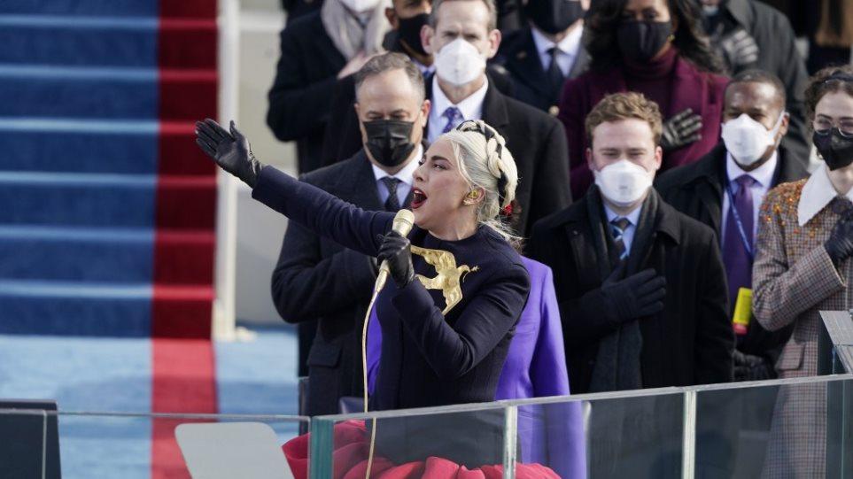 Ορκωμοσία Μπαϊντεν: Ο ιδιαίτερος τρόπος που η Lady Gaga είπε τον Αμερικανικό Εθνικό Ύμνο