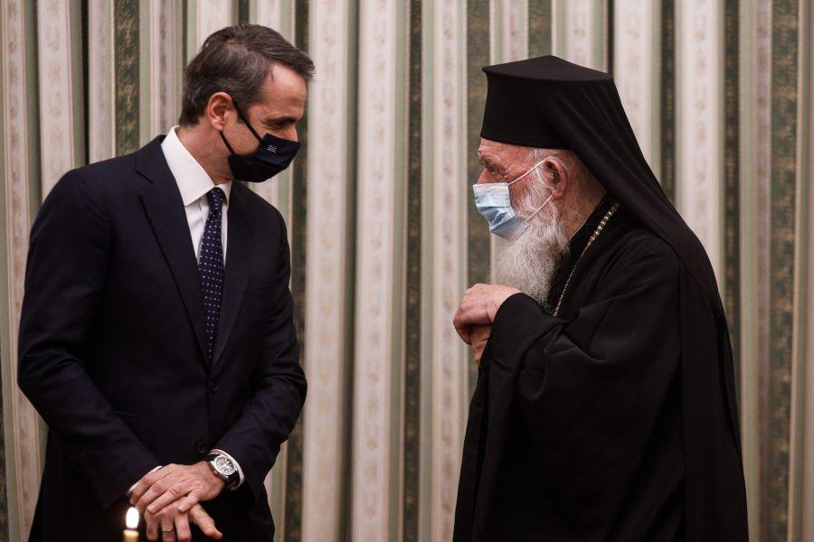 """Τετ α τετ Μητσοτάκη-Ιερώνυμου για τα Θεοφάνεια – Πρωθυπουργός: """"Η εκκλησία να αναλάβει τις ευθύνες της"""" – ΦΩΤΟ"""