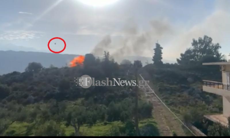 Η στιγμή της έκρηξης φιάλης υγραερίου σε πυρκαγιά στα Χανιά /BINTEO