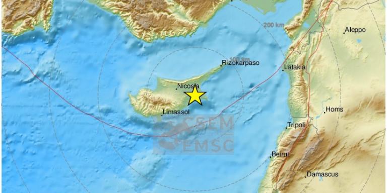 Σεισμός  5,4 R στην Κύπρο – Κοντά στην Λάρνακα το επίκεντρο /ΒΙΝΤΕΟ