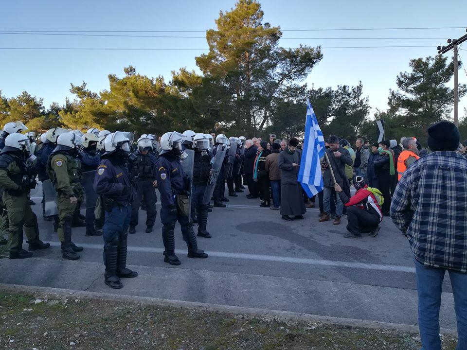 Μηχανοκίνητη πορεία στη Μυτιλήνη κατά της δημιουργίας νέας δομή/ΒΙΝΤΕΟ
