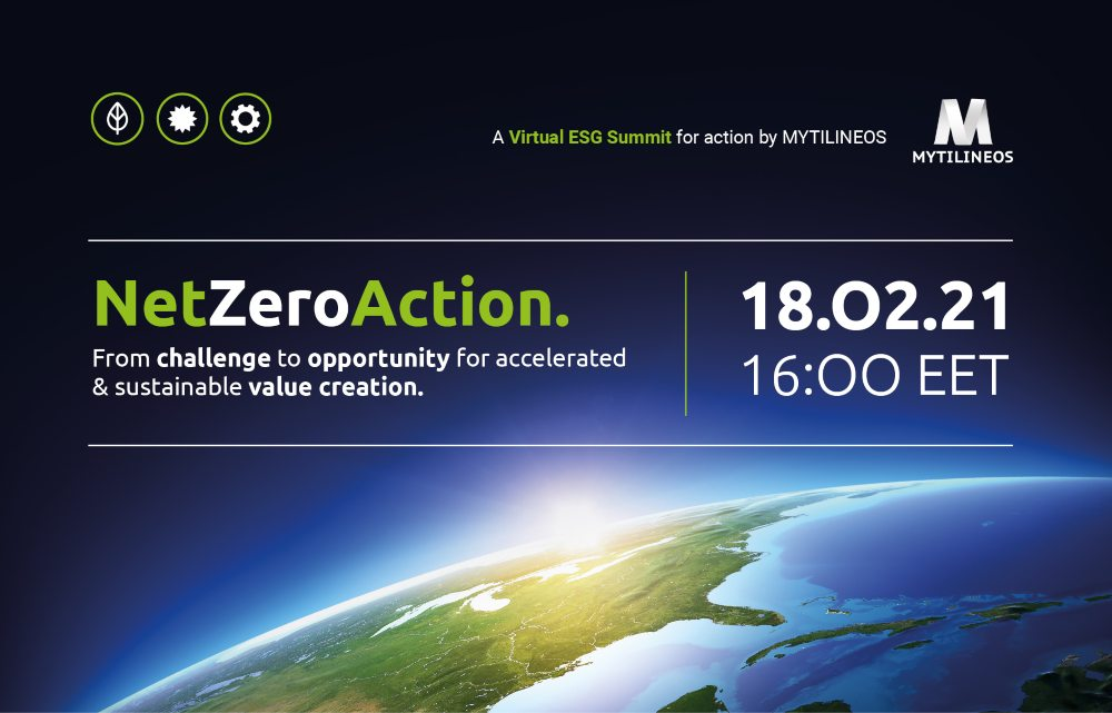 MYTILINEOS: 1ο Διαδικτυακό Συνέδριο- Net Zero Action: From challenge to opportunity for accelerated & sustainable value creation