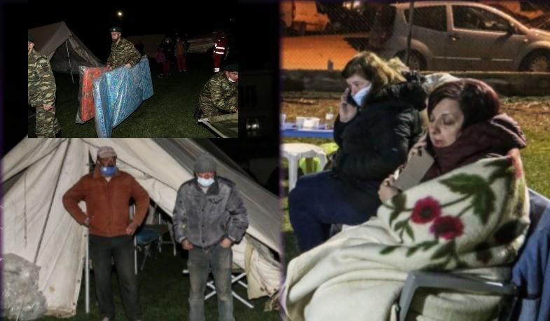 Σεισμός 6,3 Ρίχτερ στην Ελασσόνα: Δύσκολη νύχτα σε σκηνές, καρέκλες, ράντζα και ξενοδοχεία για τους κατοίκους – ΒΙΝΤΕΟ – ΦΩΤΟ