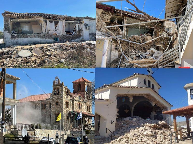 Αναθεωρήθηκε το μέγεθος του σεισμού στην Ελασσόνα, ήταν τελικά  6, 3 Ρίχτερ – Διαρκής ενημέρωση: Kατέρρευσαν κτίρια και εκκλησίες – Κυβερνητικό κλιμάκιο στην περιοχή με εντολή του πρωθυπουργού – Έκλεισαν τα σχολεία – ΒΙΝΤΕΟ – ΦΩΤΟ