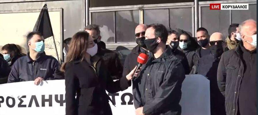 Διαμαρτυρία των εξωτερικών φρουρών των φυλακών στον Κορυδαλλό – BINTEO
