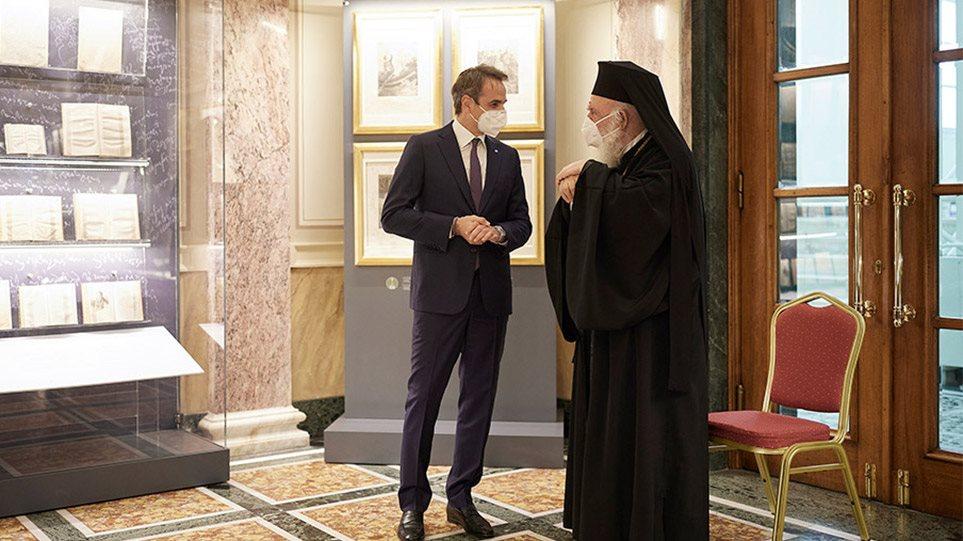 """Ιερώνυμος μετά τη συνάντηση με Μητσοτάκη: """"Βρήκαμε λύση για τις εκκλησίες το Πάσχα"""""""