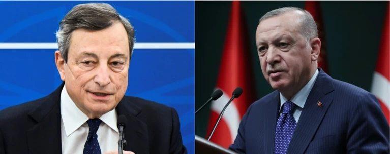 """Διπλωματικό επεισόδιο λόγω sofa-gate: Ντράγκι: """"Ο Ερντογάν είναι δικτάτορας""""- Κάλεσε τον Ιταλό πρέσβευτή για εξηγήσεις ο Τούρκος πρόεδρος"""