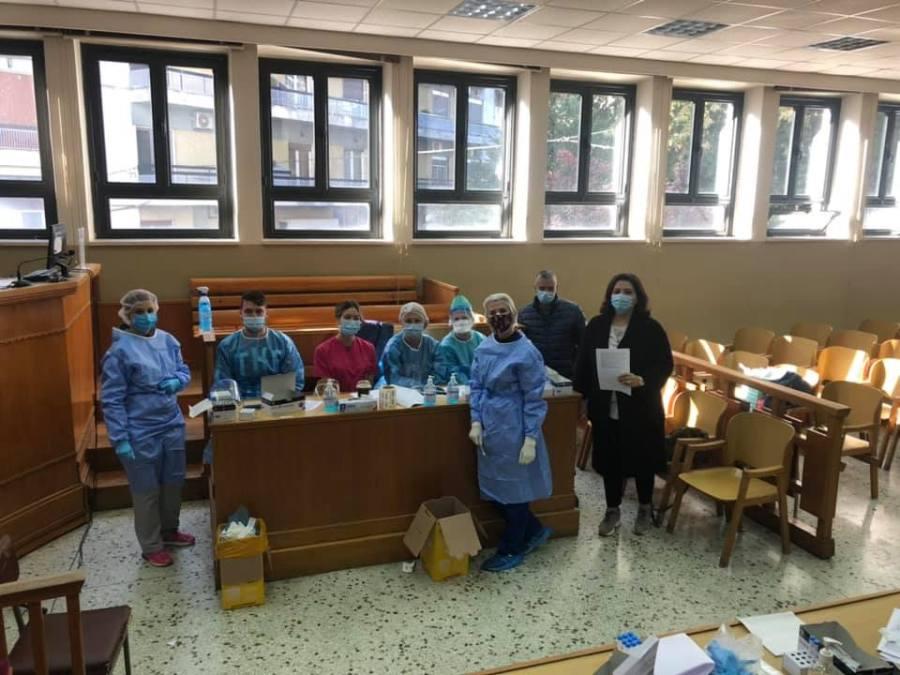 Ιωάννινα: Rapid tests στο Δικαστικό Μέγαρο