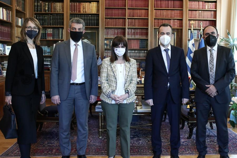 Τα προβλήματα της Δικαιοσύνης στο επίκεντρο της συνάντησης Σακελλαροπούλου – Προεδρείου Ένωσης Δικαστών και Εισαγγελέων – ΦΩΤΟ