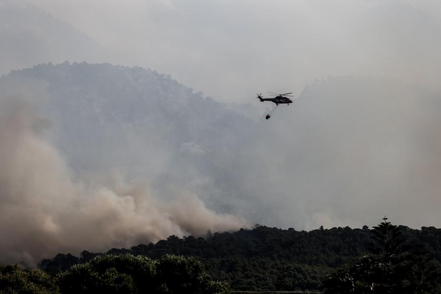 Συναγερμός στην Πυροσβεστική: Ξέσπασε φωτιά στην Κερατέα – Προληπτική εκκένωση κατοικιών
