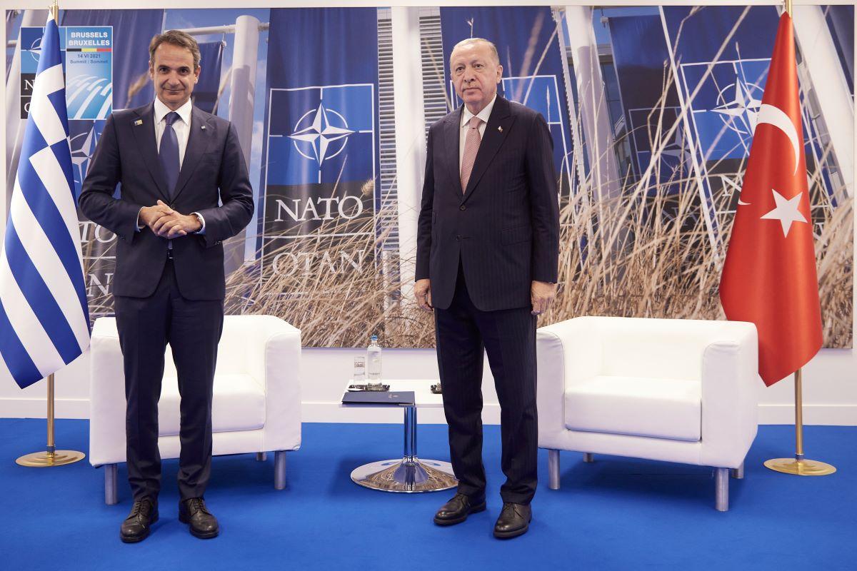 ΝΑΤΟ: Tι συζήτησαν Μητσοτάκης-Ερντογάν στις Βρυξέλλες