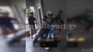 Μαθητής μπούκαρε με μηχανάκι σε σχολείο της Λαμίας
