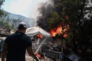 Σε ύφεση η φωτιά στη Σταμάτα - Τέσσερις προσαγωγές υπόπτων - ΒΙΝΤΕΟ - ΦΩΤΟ